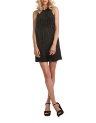 Trina Turk Silk Trapeze Dress Black