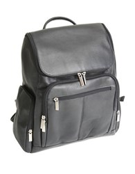 Royce Handcrafted Laptop Backpack With Top Handle Black