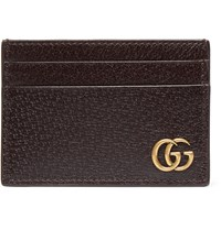 Gucci Textured Leather Cardholder With Money Clip Brown