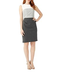 Phase Eight Color Block Dress Grey White