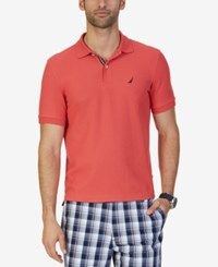 Nautica Men's Classic Fit Performance Polo Coral Htr