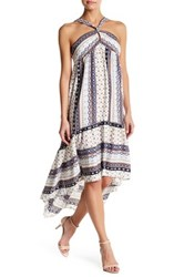 Jealous Tomato Printed Hi Lo Dress White
