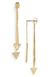 Panacea Women's Linear Triangle Drop Back Earrings Gold