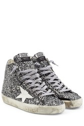 Golden Goose Francy High Top Glitter Sneakers