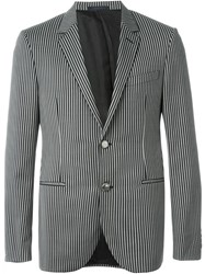 Lanvin Striped Blazer Black