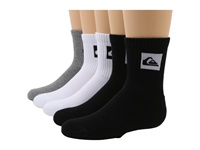 Quiksilver Legacy Crew 5 Pair Pack Big Kids Assorted Men's Crew Cut Socks Shoes Multi