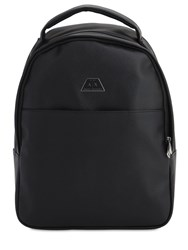 Armani Exchange Faux Saffiano Leather Backpack Black