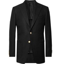 Tom Ford Black O'connor Slim Fit Wool And Mohair Blend Hopsack Blazer