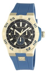 Men's Vince Camuto Multifunction Silicone Strap Watch 43Mm