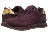 New Balance Wl574 Supernova Red Synthetic Women's Lace Up Casual Shoes Purple