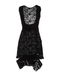 Michael Van Der Ham Short Dresses Black