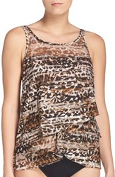 Miraclesuitr Women's Miraclesuit Wild Side Mirage Underwire Tankini Top