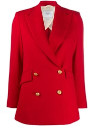 Ballantyne Fitted Double Breasted Blazer Red