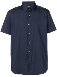 Theory Short Sleeve Shirt Blue