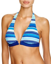 Lauren Ralph Lauren Sunset Ring Halter Bikini Top