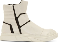D.Gnak By Kang.D Ivory Leather Zip High Tops