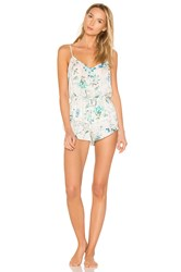 Flora Nikrooz Delilah Rayon Lace Cami And Short White