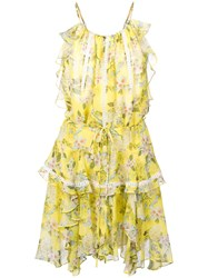 Marissa Webb Floral Print Dress Yellow And Orange