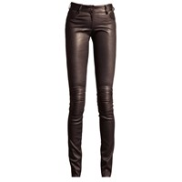 Ellesd Flora Leather Stretch Pants Grey