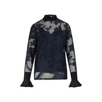 See By Chloe Lace Top Ink Navy