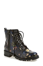 Alice Olivia 'Tyrese Enchanted' Floral Print Boot Women Black Multi Leather