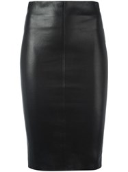 Jitrois Leather Pencil Skirt Black