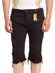 Robin's Jeans Solid Slim Fit Shorts Black