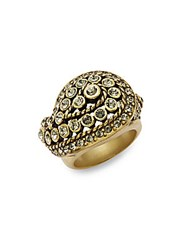 Heidi Daus Divine Miss Daisy Rhinestone And Crystal Cocktail Ring Gold