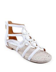 Adrienne Vittadini Pablic Leather Sandals White