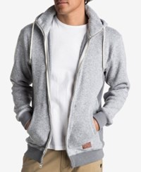 Quiksilver Men's Keller Full Zip Hooded Sweatshirt Light Grey