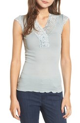 Rosemunde Women's Benedict Lace Trim Tee Puritan Grey