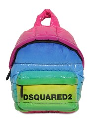Dsquared Miss Logo Rainbow Vinyl Backpack Arcobaleno