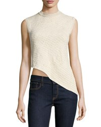 Ralph Lauren Sleeveless Asymmetric Hem Top Blonde