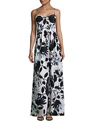 Parker Floral Print Sweetheart Gown Antigua