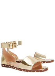 Valentino Gold Studded Leather Sandals