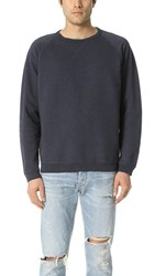 Mollusk Cosmos Crew Neck Sweatshirt Faded Navy