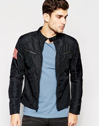 Denim And Supply Ralph Lauren Denim And Supply By Ralph Lauren Biker Jacket In Black Navy
