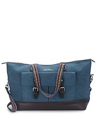 Robert Graham Eamon Leather Accented Duffel Bag Blue