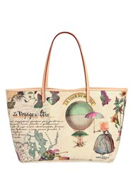 Etro Voyage Printed Coated Canvas Tote Bag