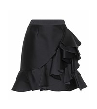 Stella Mccartney Cotton And Silk Blend Skirt Black