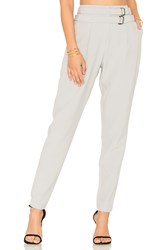 Lavish Alice Double Belted Trousers Gray
