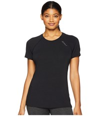 2Xu Heat Short Sleeve Run Tee Black Black T Shirt