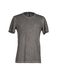 Tanomu Ask Me Topwear T Shirts Men Grey