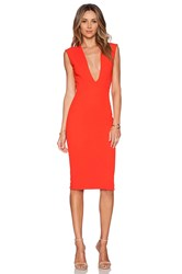 Solace London Grace Knee Length Dress Red