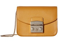 Furla Metropolis Mini Crossbody Zafferano Cross Body Handbags Yellow