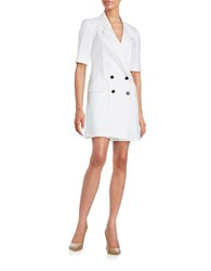 Dkny Double Breasted Short Jumpsuit White