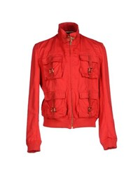 Class Roberto Cavalli Coats And Jackets Jackets Men Red