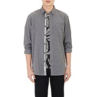 Rag And Bone Men's Flannel Standard Issue Shirt Dark Grey