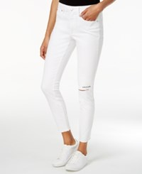 Rachel Roy Live To Love Ripped Skinny Jeans Only At Macy's White