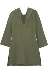 Elle Macpherson Jersey Hooded Pajama Top Army Green